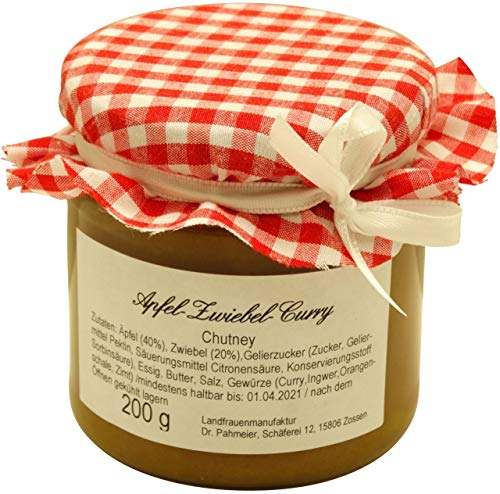 Landfrauenmanufaktur - Zossener Apfel-Zwiebel-Curry-Chutney - 200 g