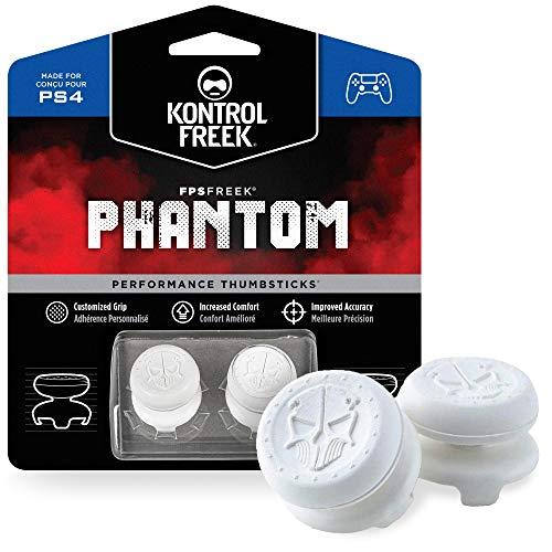 KontrolFreek FPS Freek Phantom for PlayStation 4 (PS4) Controller | Performance Thumbsticks | 2 High-Rise Concave | White