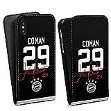 DeinDesign Flip Case kompatibel mit Apple iPhone XS Tasche Hülle Coman #29 FC Bayern München Trikot