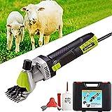 WSVULLD 690W Professional Heavy Duty Cizalla eléctrica Clippers, Carriladoras de ovejas, 6 velocidades Cortambres de corte de granja de trabajo pesado Trimmer, suministros para mascotas de ganado de g