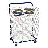 Sprogs Art Drying Rack, 23 3/4' W x 17 1/2' D x 38' H, Blue/White, SPG-LED1027W-SO