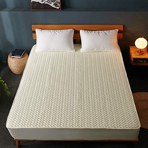 IKITOBI Sábana bajera ajustable para cama doble, extra profunda, suave, 120 x 200 cm+28 cm