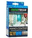 Nanotekas Kit per rivestire il vetro della cabina doccia, per proteggere e salvaguardare il vetro e la porta in ceramica dall'acqua