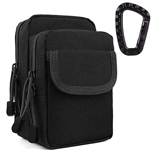 ZAYOO Tactical Molle Pouch for Men Belt Belt Belt Pouch Tool Bag Organizer Bag with Mobile Phone iPhone 6S/7/X Samsung S8