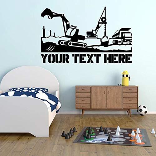 La pared de vinilo con diseño de texto puede usar cualquier color y nombre de tamaño para pedir texto, use