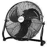 OZAVO Ventilatore da Pavimento da 90 W. Testa Regolabile a 360 Gradi, 3 Velocità, 50 cm Uso...