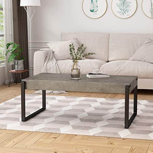 Best Christopher Knight Home Shaw Coffee Table | Modern | Contemporary | Industrial | Faux Wood with Iron