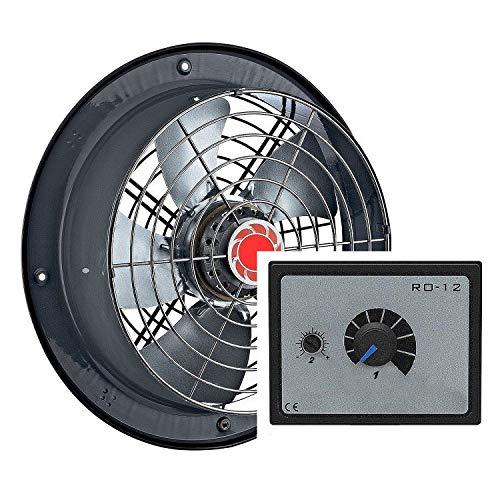 300mm Industrial Ventilador + 5A REGULADOR Ventilación extractor Ventiladores ventilador Fan Fans industriales Axiak axiales extractores centrifugos aspiracion mura pared ventana variador reguladores