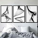 AdoDecor Geometrische dynamische Linien Leinwand Malerei