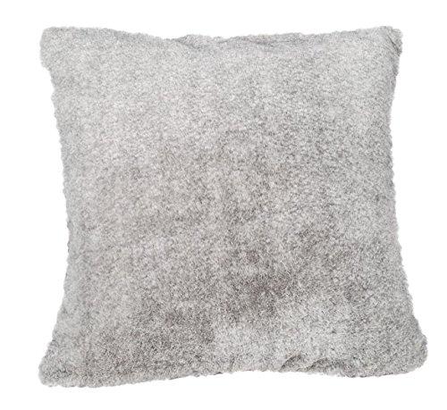 Toison d'Or Coussin Vanoise Polyester Imitation Fourrure Gris Cendre 45x45