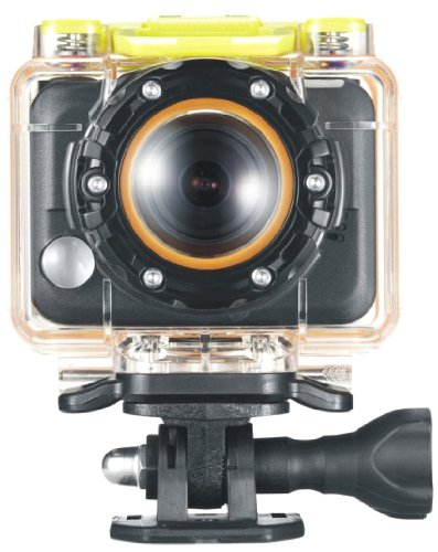 Praktica SC 1 Aktionkamera mit 170° Weitwinkelobjektiv (5 Megapixel, 256MB interner Speicher, wasserdichtes Gehäuse bis 60m, WLAN, HDMI) schwarz