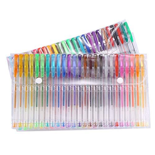 bobotron 100 bolígrafos de gel de colores para adultos, colorear, scrapbooking, dibujar, incluye purpurina, metálico, pastel neón, clásico, neón