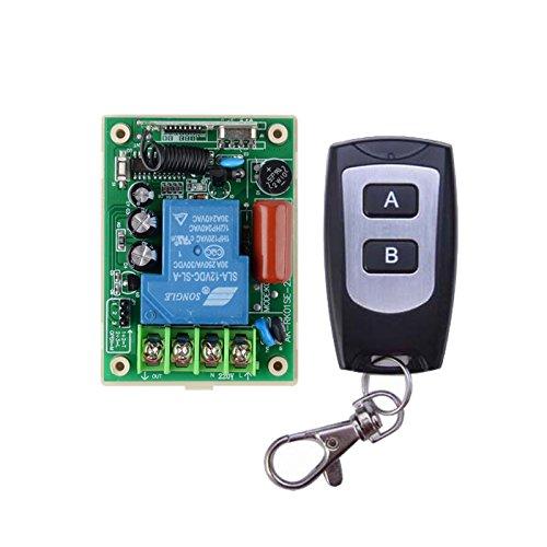 Lejin Interruptor de relé de 220 V, 30 A, con mando a distancia, receptor de 3000 W, iluminación de 433 MHz, bomba de agua LED, receptor manual, mando a distancia