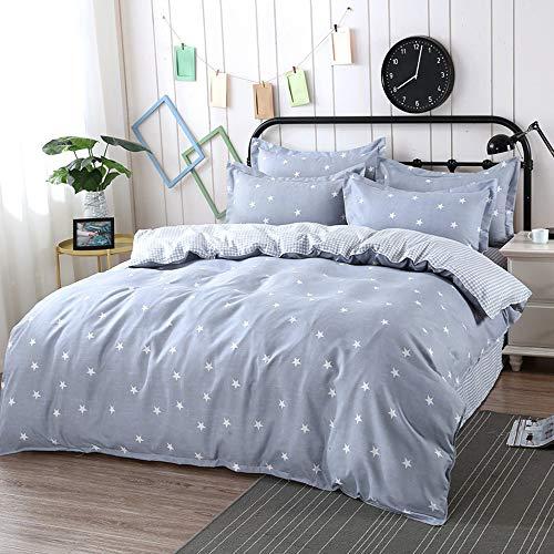 DelongKe beddengoedset voor tweepersoonsbed, 160 x 210 cm, microvezel, ademend, zacht, 2 kussenslopen (48 x 74 cm), 1 beddengoed (180 x 230 cm)