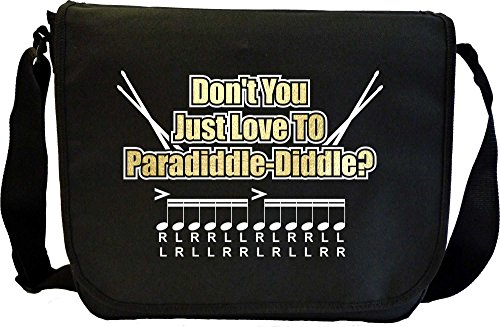 Drum Sticks Paradiddle Diddle - Sheet Music Document Bag Musik Notentasche MusicaliTee