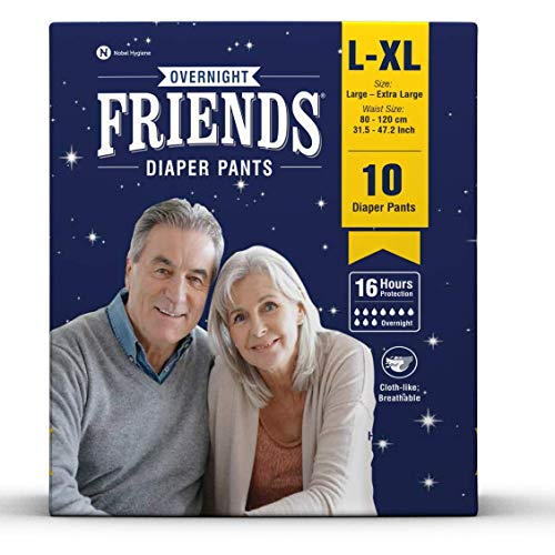 Friends Adult Overnight Diaper Pants, Navy Blue - (Extra Large)