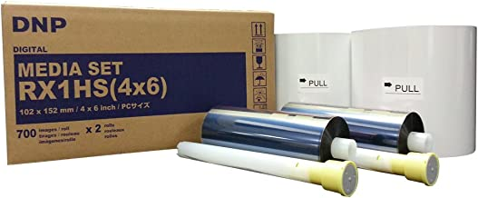 DNP 4x6 Print Media for DS-RX1HS Dye Sub Printer; 700 Prints Per Roll; 2 Rolls Per Case (1400 Total Prints).