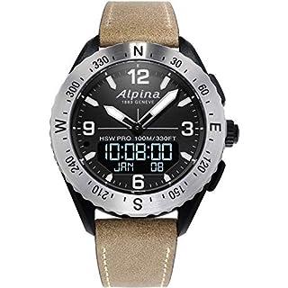 Alpina Men's AlpinerX Fiber Glass Swiss Quartz Sport Watch with Leather Calfskin Strap, Beige, 22 (Model: AL-283LBBW5SAQ6) (B082DZRXCL)   Amazon price tracker / tracking, Amazon price history charts, Amazon price watches, Amazon price drop alerts