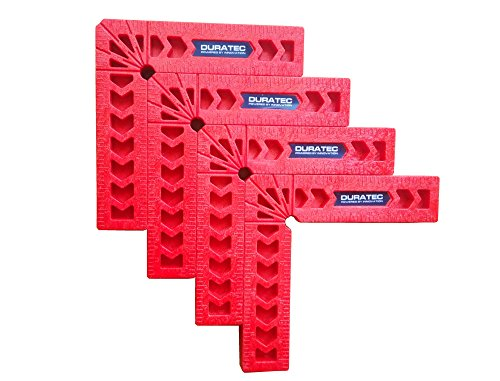Duratec Positioning Squares, Woodworking Tool, Clamping 90 Degree Angles for Picture Frames, Boxes, Cabinets or Drawers .Set of 4pcs (4 Inch)
