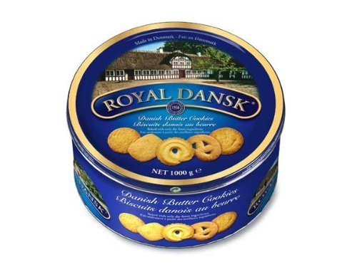 Continental Bakeries Royal Dansk Buttercookies (1kg Metallrunddose)