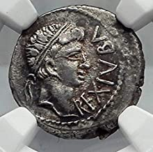 1000 GR JUBA II & Mark Antony Daughter CLEOPATRA SELENE A Denarius XF NGC