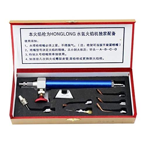 Nueva herramienta de joyería Agua Oxígeno Soldadura portátil Antorcha con 5 consejos Joyas Herramientas de equipo de hidrógeno para la perilla de control de llama ajustable a la llama fácil de tamaño