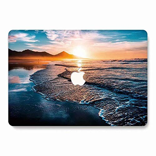 MacBook Air Case, AQYLQ Landscape Pattern Rubber Coated Plastic Protective Cover Hard Case for Apple Laptop MacBook Air 13 inch Model A1369 / A1466 - Sunrise