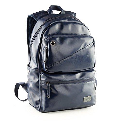 Sincere® / Extérieur sac de loisirs sac à dos / sac / ordinateur hommes-Navy mode Fashion Backpack / Zipper Sacs à dos / Rue / Multifonction / sac à bandoulière en cuir / Cartable bleu