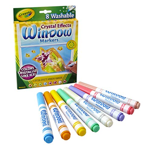 Crayola Washable Crystal Effects Window Markers, 8 ct
