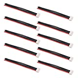 OliRC 10pcs 4' / 10cm JST-XH 4S Balance Plug Connector Adapter Lead Wire 22awg Silicone Cable for RC Lipo Battery Charger(C124-10)