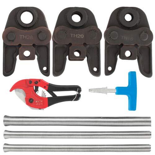Crimpadora de tubos de 16/20/26 mm con alicates de contorno, incluye 5 herramientas de resorte de flexión.