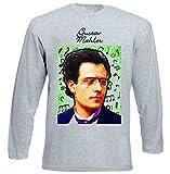 Photo de teesquare1st Men's Gustav Mahler Composer T-Shirt à Manches Longues pour Homme Size Small
