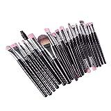 harayaa 20pcs / Set Professhional Makeup Brushes Foundation Powder Brush - Astilla negra
