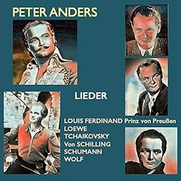 Peter Anders · Lieder