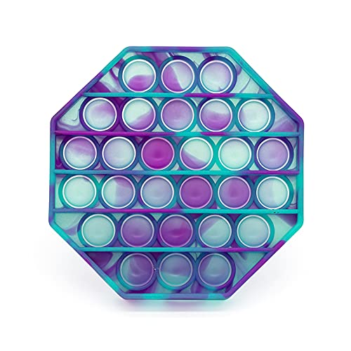 SugarNPop Fidget Toy Glow in The Dark Tie Dye Pop it. Push Pop Bubble Fidget Sensory Toy. Autism Toys,Stress Relief Toy,ADHD Tools for Kids,Anxiety Relief Items for Teens,Party Favors (Purple & Green)
