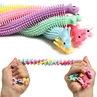 SMALL FISH Sensory Stress Relief and Fidget Therapy Unicorn Stretchy String Toys for Kids and Adults, 6 Pack Strings Set Anti Anxiety, Fidgeting, and Relaxing, Best for Boys and Girls with Autism