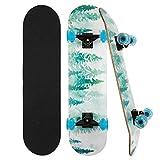 CLYCTIP Skateboard Komplett Board 79x20cm Holzboard ABEC-7...