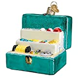 Adorno de cristal de Navidad de Old World con gancho en S y caja de regalo, colección exterior (caja para grillete)