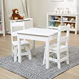 Melissa & Doug Tables & Chairs 3-Piece Set - White