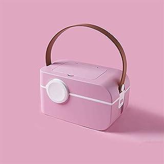 AINIYF Multi-Layer Medicine Box Multi-Function Medical Box Medicine Storage Box Portable First Aid Kit (Color : Pink)