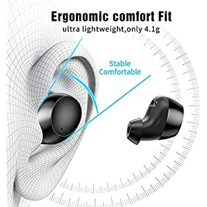 Lanteso Bluetooth Earbuds Wireless Earbuds in-Ear Premium Sound Bluetooth Headphones 4 Mics Earphones with Charging Case