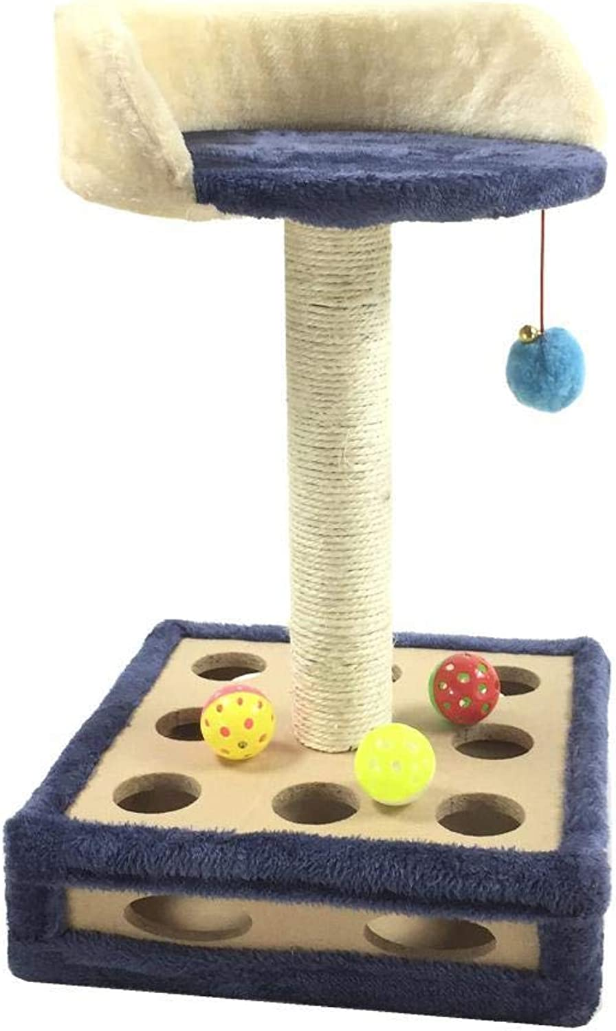 Daeou cat trees towers Pet cat toy cat self play Box cat Scratch Board Furniture 30  30  50cm