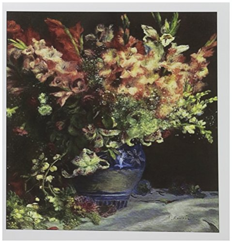 3drose Renoir Gladiolen in Vase Malerei Foto–Grußkarten, 15,2x 15,2cm, Set 6(GC 163022_ 1)