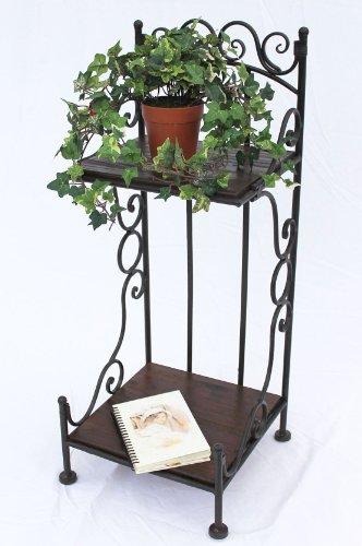 DanDiBo Regal HX12585 aus Metall und Holz 80 cm Bücherregal Badregal Braun