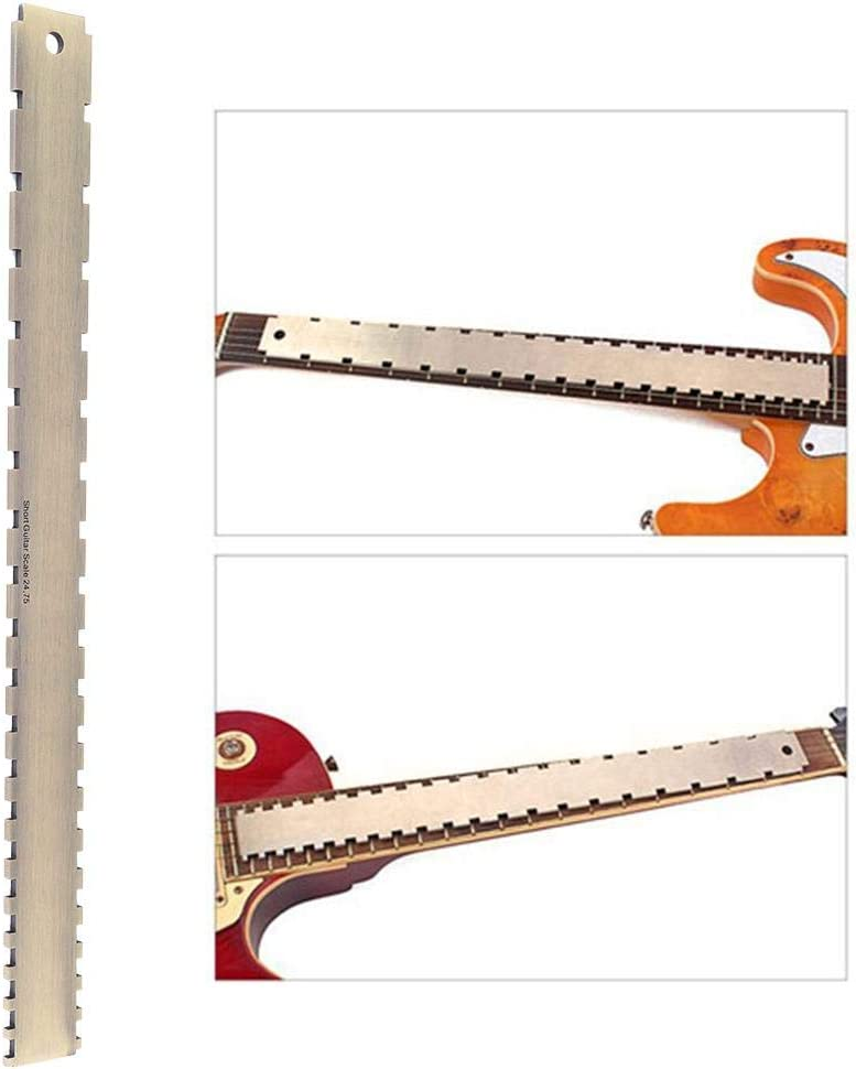 Vikye Cómodo de Usar Fret Board, Borde Recto, Resistente con Muesca de Borde Recto, Placa con Muescas, para Amantes del Guitarrista, Guitarra para Guitarras, nivelación del Cuello