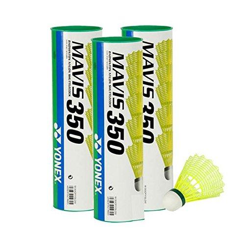 Yonex Mavis 350 Badmintonball gelb 5X6=30 Stück Nylonshuttle Farbe: Green/Slow