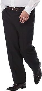 [サカゼン]スラックス 大きいサイズ メンズ ノータック 春夏 ウォッシャブル ビジネス パンツ 洗える シンプル 無地 仕事着 ダークグレー/ブラック 100 105 110 115 120 125 130cm