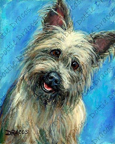 Amazon Com Cairn Terrier Dog Art Print Cairn From Original Dog Painting By Dottie Dracos Print Sizes From 8x10 Up To 13x16 25 Watermark Not On Your Print Handmade