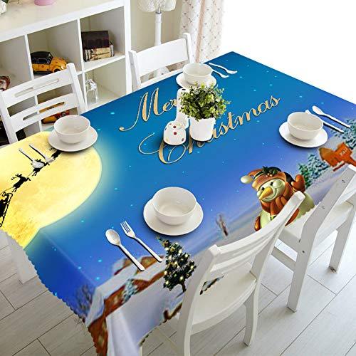HNFJC Manteles Mantel navideno Cocina Comedor Mesa Decoraciones Hogar Rectangular Fiesta Cubiertas de Mesa Adornos navidenos, 3,90x150cm