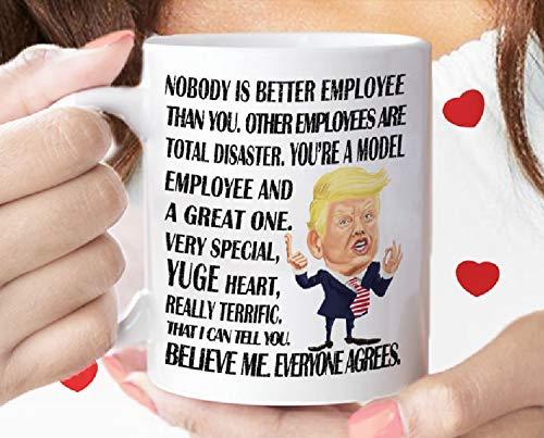 """Taza de desayuno con texto en inglés """"Trump"""", regalo de agradecimient"""
